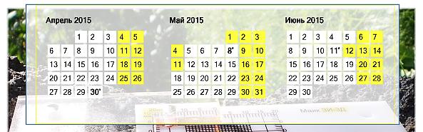 Скачать календарь на 2015 год