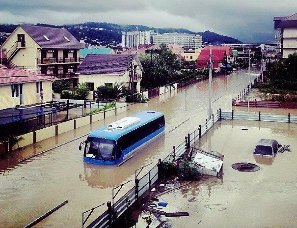 Наводнение в Сочи 25 июня 2015 г.
